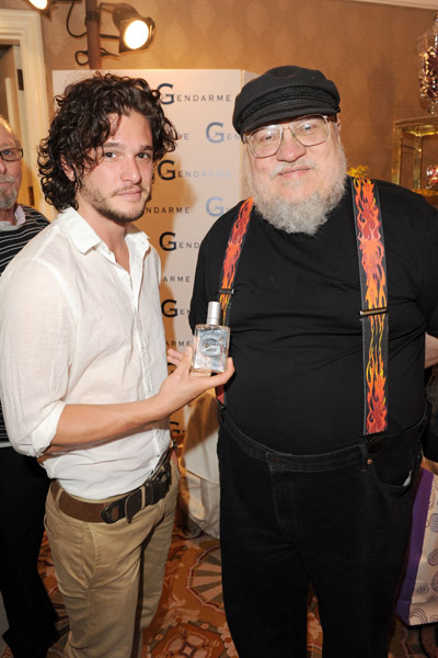 Kit Harington & GRRM @ HBO Luxury Lounge
