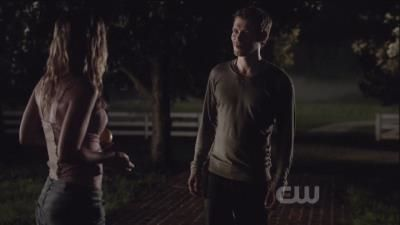 Klaus trying to trick his victim into inviting him into the house