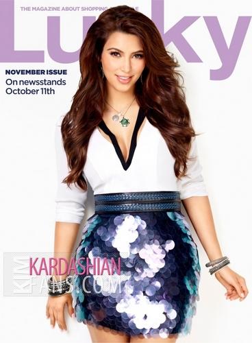 Kim Kardashian wallpaper entitled Lucky Magazine October 2011 Photoshoot