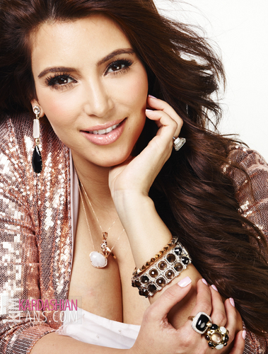 Kim Kardashian Hintergrund with a portrait titled Lucky Magazine October 2011 Photoshoot