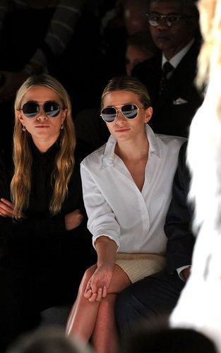Mary-Kate & Ashley Olsen - At the J. Mendel Spring 2012 show in New York City, September 14, 2011