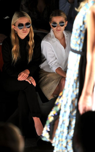 Mary-Kate & Ashley Olsen - At the J. Mendel Spring 2012 toon in New York City, September 14, 2011