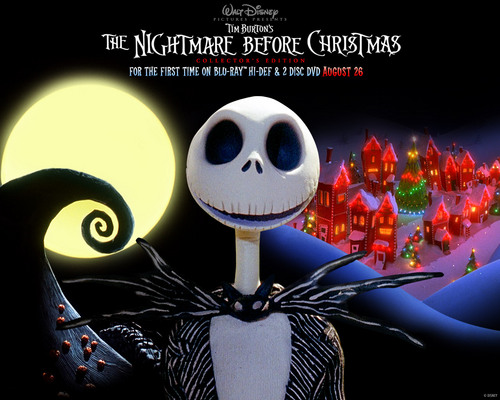 Nightmare Before Christmas wallpaper possibly containing a sign entitled NBC