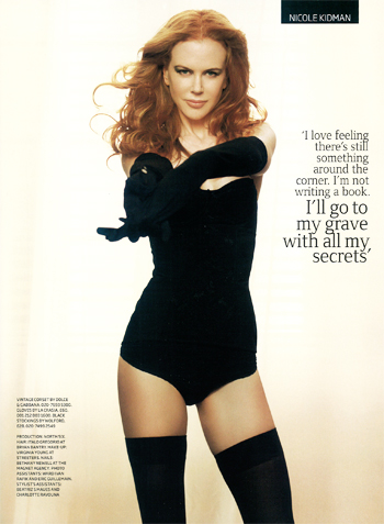 Nicole Kidman پیپر وال with a leotard titled Nicole Kidman GQ UK December 2009