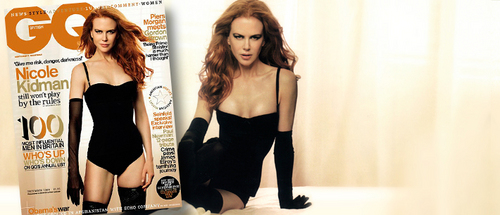 Nicole Kidman پیپر وال possibly containing a leotard, tights, and a bustier, بسٹیر called Nicole Kidman GQ UK December 2009