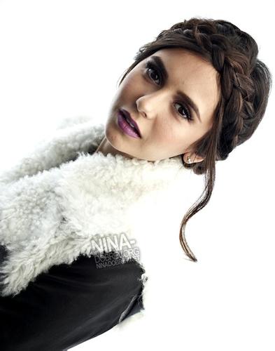 Nina Dobrev at photoshot for Elle