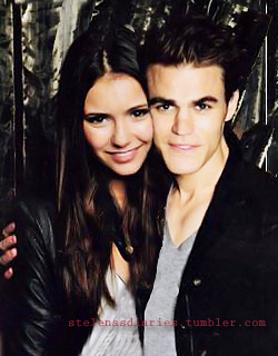 Paul Wesley and Nina Dobrev wallpaper containing a well dressed person and a portrait entitled Nina&Paul
