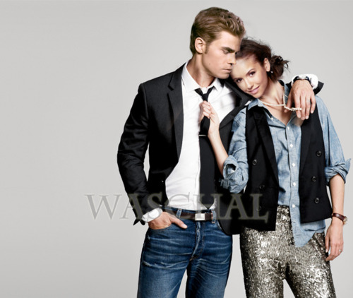 Nina&Paul - paul-wesley-and-nina-dobrev Fan Art