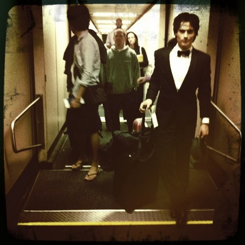 Nina tweets pic of Ian (on their way back to Atl)