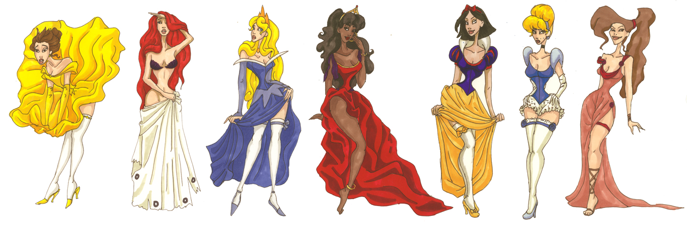 Pin-Up - Disney Princess Fan Art (25409265) - Fanpop