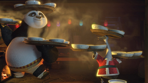 Po on Kung Fu Panda Holiday