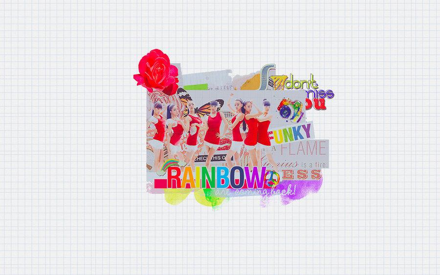 Rainbow Wallpaper Rainbow Korean Band Photo 25406697