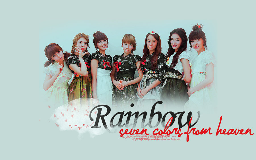 Rainbow Wallpaper Rainbow Korean Band Photo 25406714