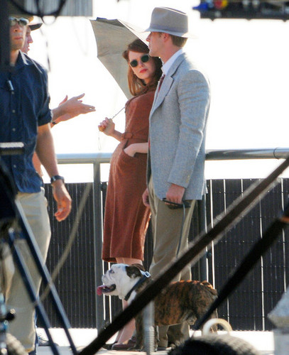 Ryan On the Set of Gangster Squad (September
