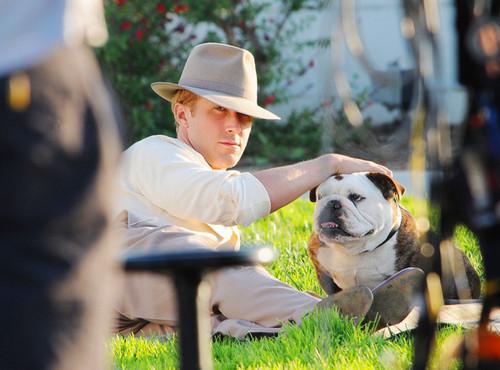 Ryan On the Set of Gangster Squad (September