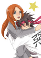 Sanosuke x Orihime, Cross-over couple - anime fan art