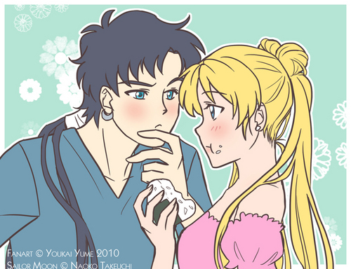 Sailor Moon Sailor Stars wallpaper with Anime entitled Seiya and Usagi
