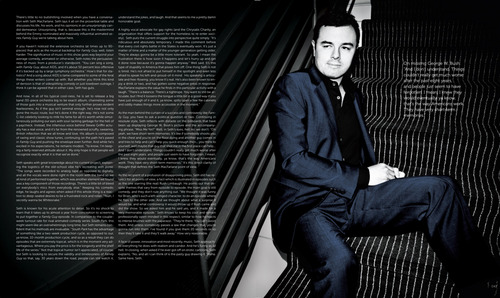 Seth MacFarlane wallpaper containing a business suit, a well dressed person, and a suit called Seth MacFarlane in the Spring 2011 Issue of New York Moves Magazine