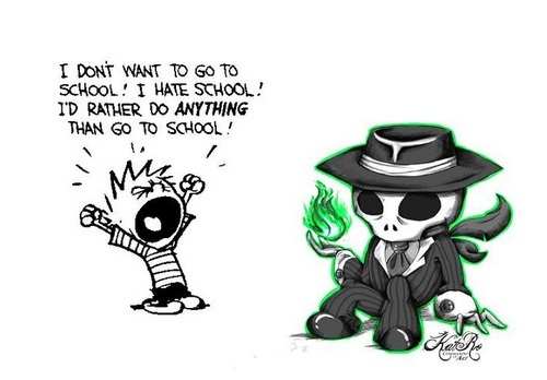 Skulduggery Pleasant fondo de pantalla containing anime entitled Skul comic