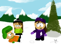 Snow fight!!!! - south-park fan art
