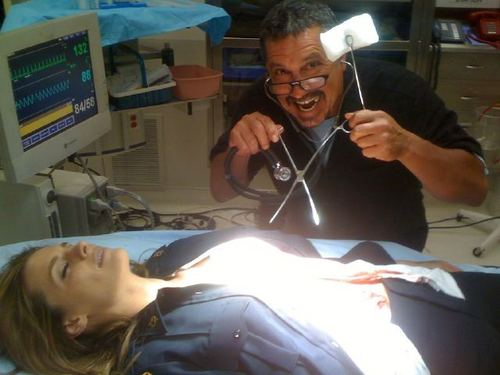 Stana With Executive Producer Rob Bowman