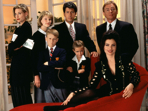 The Nanny wallpaper with a business suit entitled The Nanny