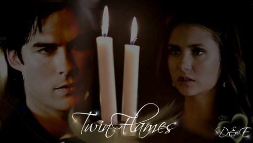 The Vampire Diaries Couples Обои titled Twin flames - D&E