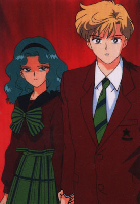 Sailor Uranus and Sailor Neptune karatasi la kupamba ukuta probably containing anime entitled UranusNeptune