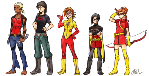 in young justice wallpaper entitled When The boys turn into girls...