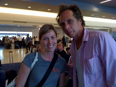 William Fichtner with a fan