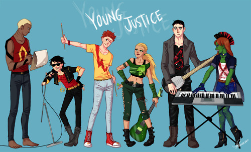 Young Justice wallpaper called Young Justice ROCKBAND STYLE!!!!!