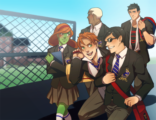 Young Justice going to school!