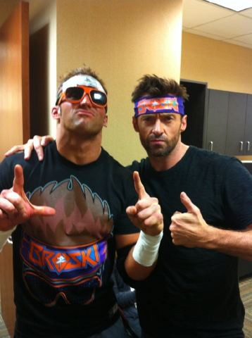 Zack Ryder with Hugh Jackman