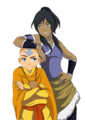 aang and korra - avatar-the-last-airbender photo