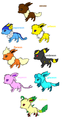 all the eeveelutions