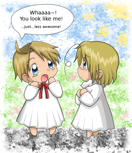 hetalia - axis powers - axis powers wallpaper with animê entitled baby america & baby canada