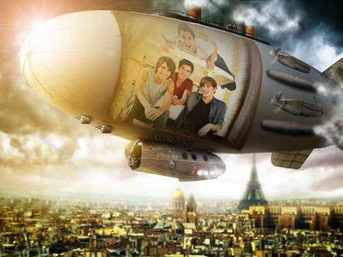 big time rush- airship over paris