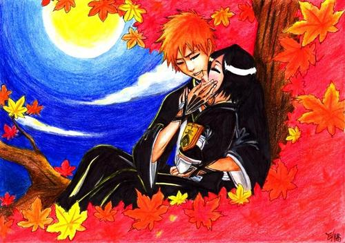 ichigo rukia sun moon images ichiruki hd wallpaper and background photos 25409253. Black Bedroom Furniture Sets. Home Design Ideas
