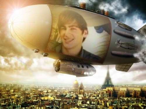 Big Time Rush and Jonas Brothers wallpaper probably containing a meteorological balloon titled kendall-airship over paris