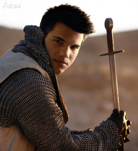 Taylor Lautner پیپر وال containing a chain mail entitled knight