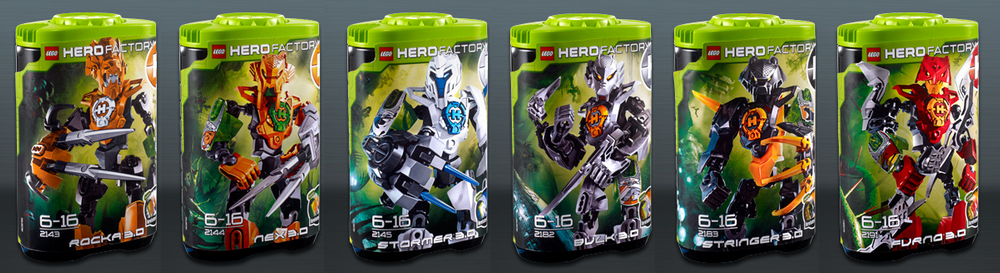 Lego Hero Factory 30 Hero Canister Sets Lego Hero Factory Club