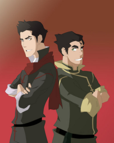 Avatar: The Last Airbender wallpaper probably containing a ski mask called mako and bolin