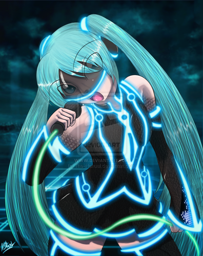 miku in the grid