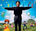 miyamoto with charaters - nintendo photo