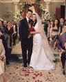 monica and chandler wedding foto
