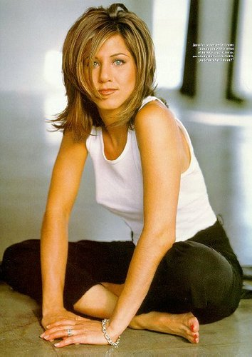বন্ধু দেওয়ালপত্র possibly containing tights and a leotard called rachel green (jennifer aniston