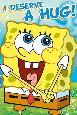 SpongeBob SquarePants karatasi la kupamba ukuta containing anime titled spongebob needs a hug