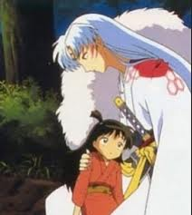 Sesshomaru and Rin karatasi la kupamba ukuta possibly containing anime called sweet child of mine