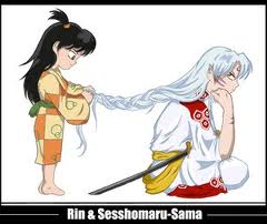 Sesshomaru and Rin wallpaper containing anime called sweet child of mine