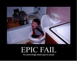 *Sits on toilet* Uh oh!